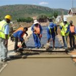 Power roller screed