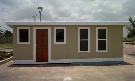 Low-cost housing built from polystyrene