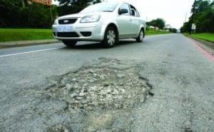 road pothole image