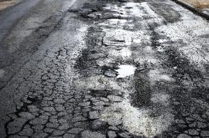 Bad road image