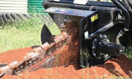 Precision cuts with Cat trencher technology