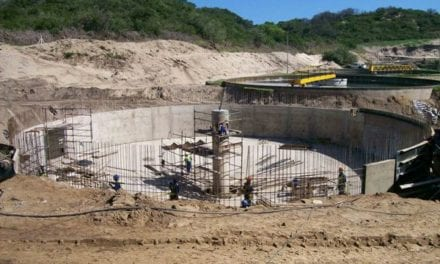 Expanded water works hits home stretch
