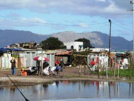 Overflowing dams in Western Cape
