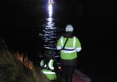 Major flood repair helped by remote control boat
