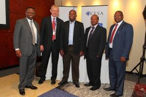 Trueman Goba, Peter Viljoen, Thabo Masombuka, Poobie Govender, and Lefadi Makibinyane image