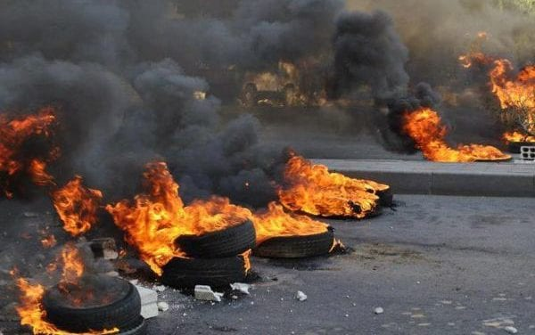 Lenasia residents blocked roads in protest against illegal land grabs
