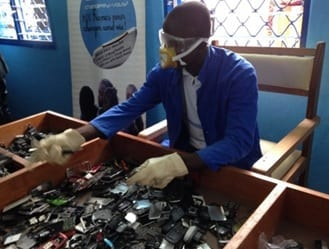 Recycling cell phones in Africa