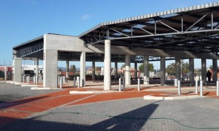The cement behind SA's first green taxi rank