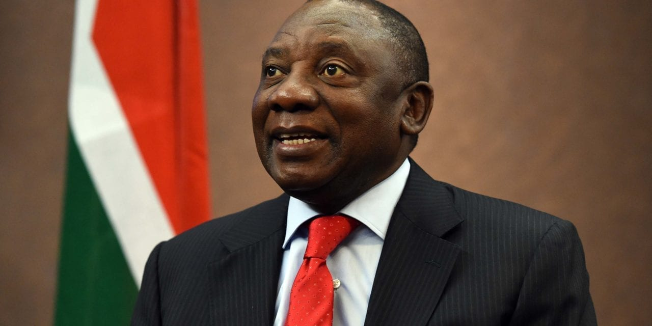 Zuma and Ramaphosa all smiles at farewell party