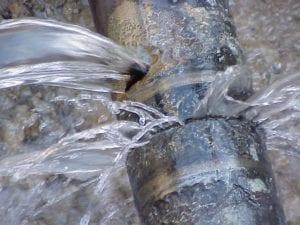 Burst pipe Orillia