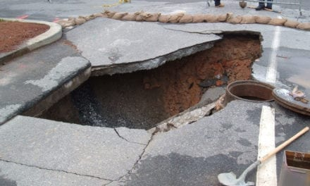 Sewer collapses in Pinelands CT