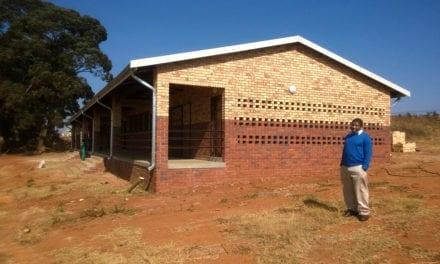 Gauteng school enjoys first brick and mortar classroom
