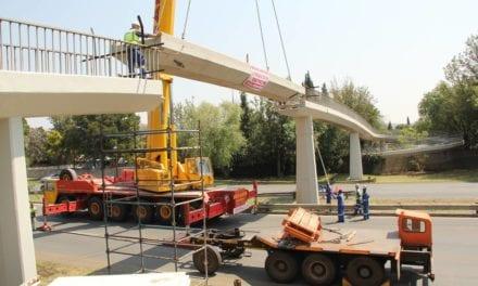 Damaged pedestrian bridge reopened
