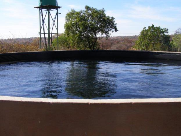 A reservoir filled with water