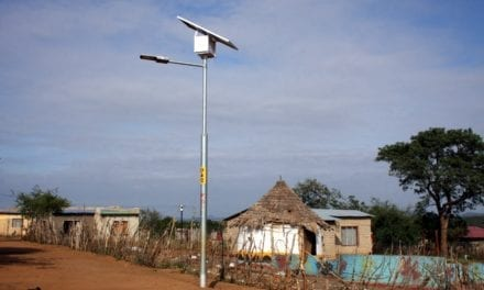 Solar powered streetlights for rural townships