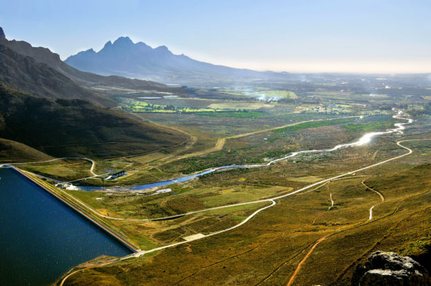 A perspective of the Berg River Dam in South Africa's Western Cape, where Knight Piésold formed part of the Berg River Consultants JV appointed for the project