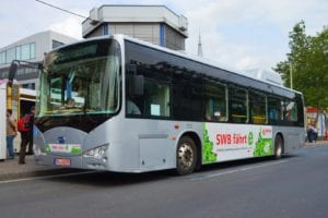 An example of a battery powered BYD electric bus.