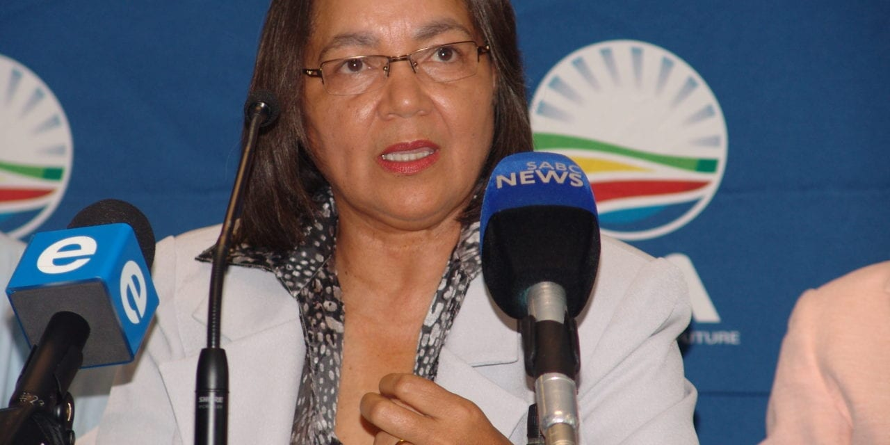 De Lille slams government's Tirisano Trust