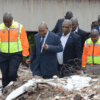 President Jacob Zuma visited Alexandra to assess the damage caused by the flooding of the Jukskei River