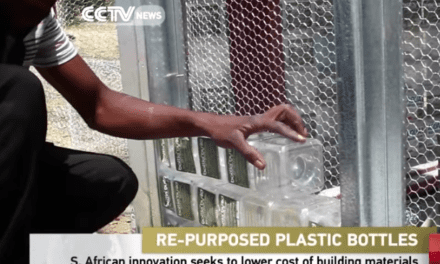 Upcycled PET bottles used to build school in Diepsloot