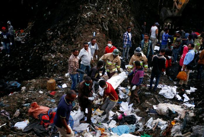 Death toll in Ethiopian garbage landslide soars to 82