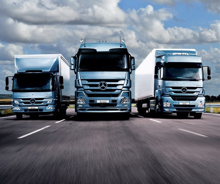 Mercedes benz daimler show good results infrastructure news for Mercedes benz semi trucks