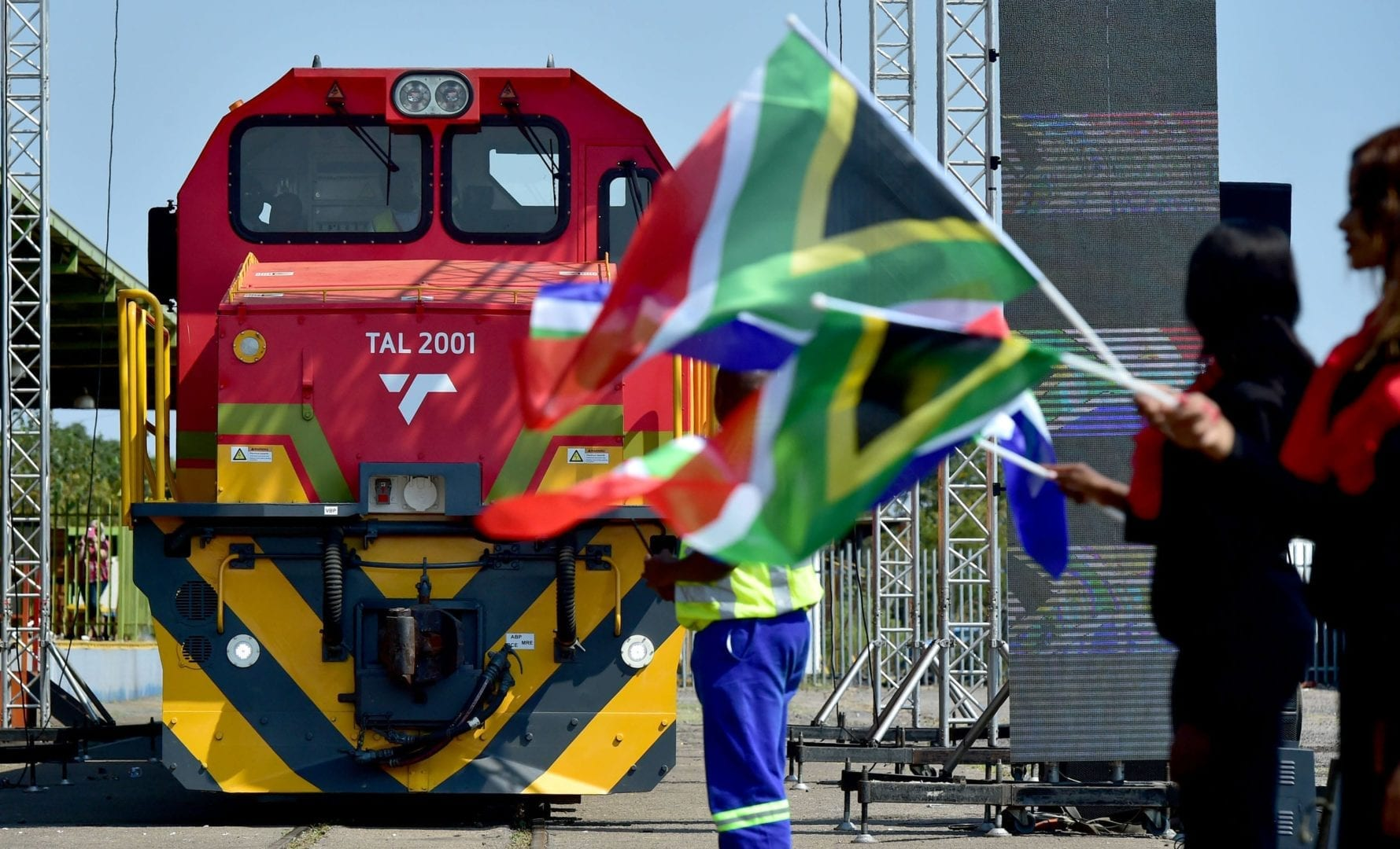 The launch of the Trans Africa Locomotive in Pretoria. This is the first ever locomotive that has been designed, engineered and manufactured locally by the state-owned entity, Transnet, which will serve the African continent. (Photo: GCIS)