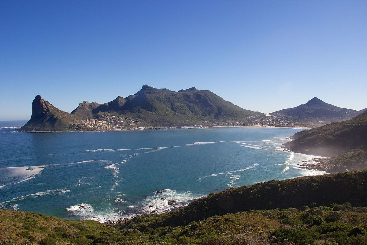 Hout Bay beach in Cape Town.
