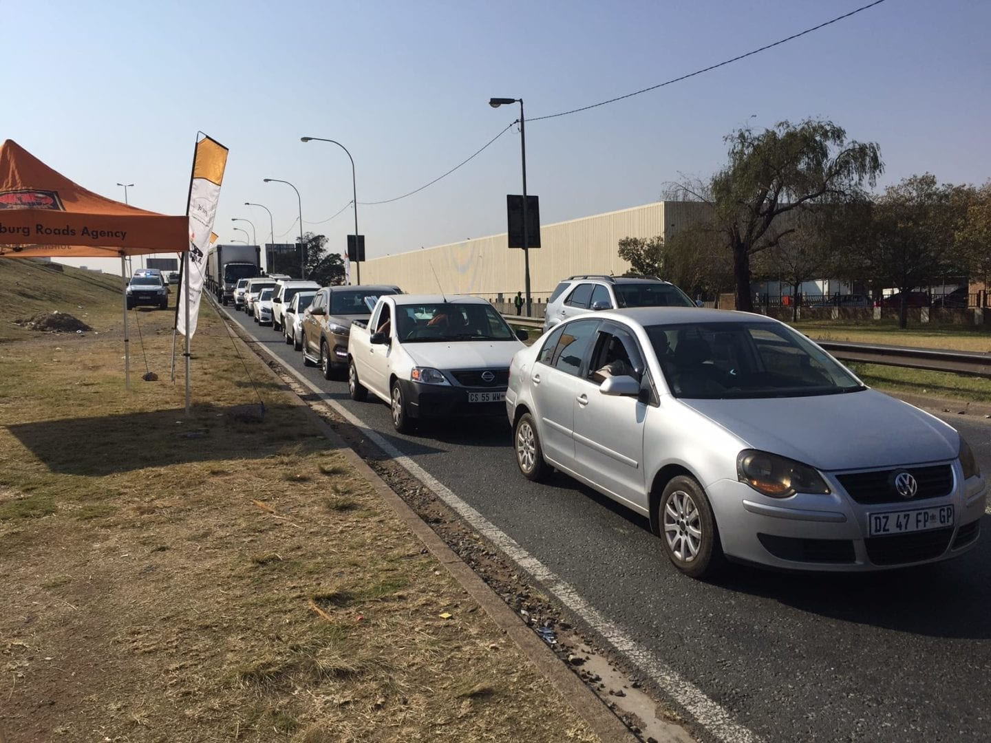 Traffic congestion on Main Reef Road. Picture: Rianté Naidoo
