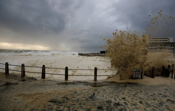 Recent storms which hit the City of Cape Town has contributed very little to the city's water storage. Photo: Reuters / Mike Hutchings