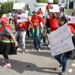 Workers deliver memorandum to transport minister