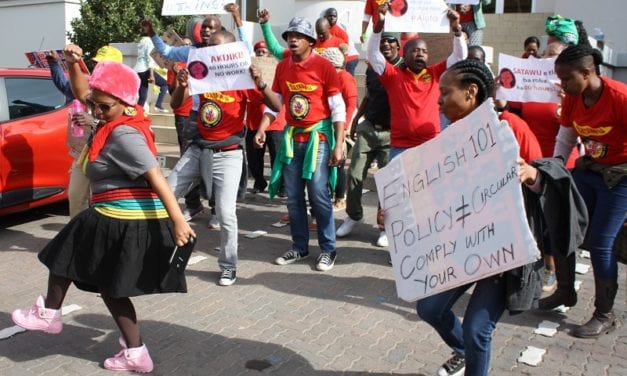 Workers deliver memorandum to transport minister