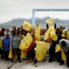 Volunteers for International coastal clean up day 2017 on Robben Island
