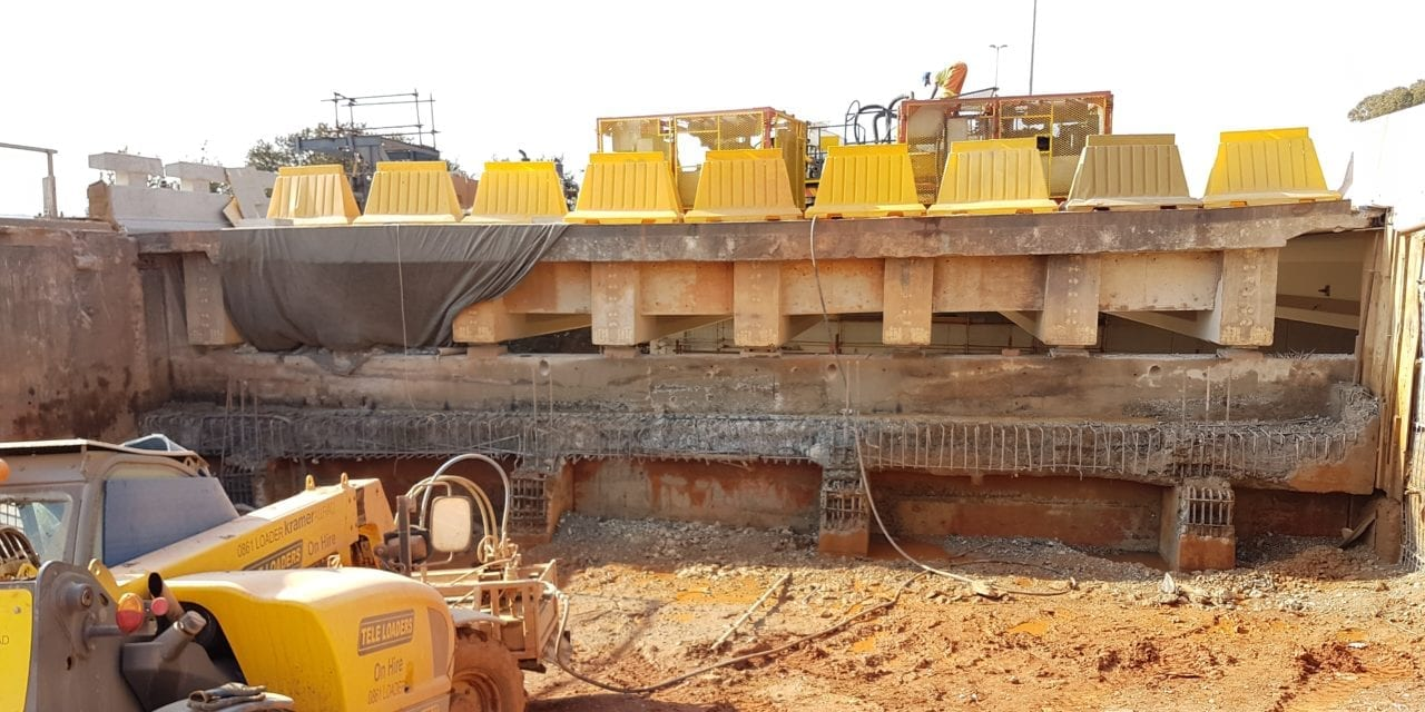 Hydrodemolition used in JHB bridge rehab project
