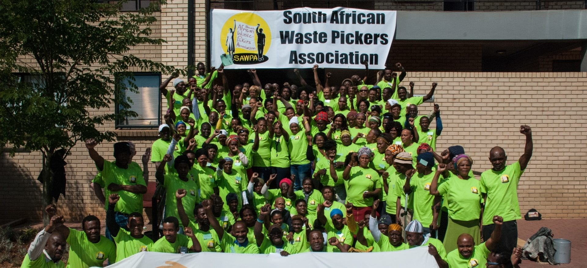 Members of the South African Waste Pickers association