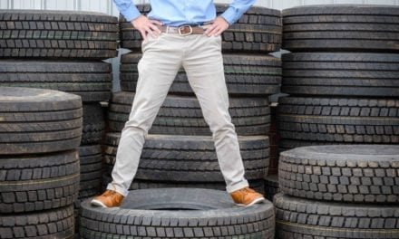 Mathe Group recycles its 100 000 truck tyre