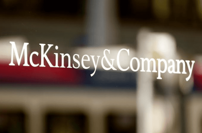 The logo of consulting firm McKinsey + Company is seen at an office building in Zurich, Switzerland September 22, 2016. REUTERS/Arnd Wiegmann