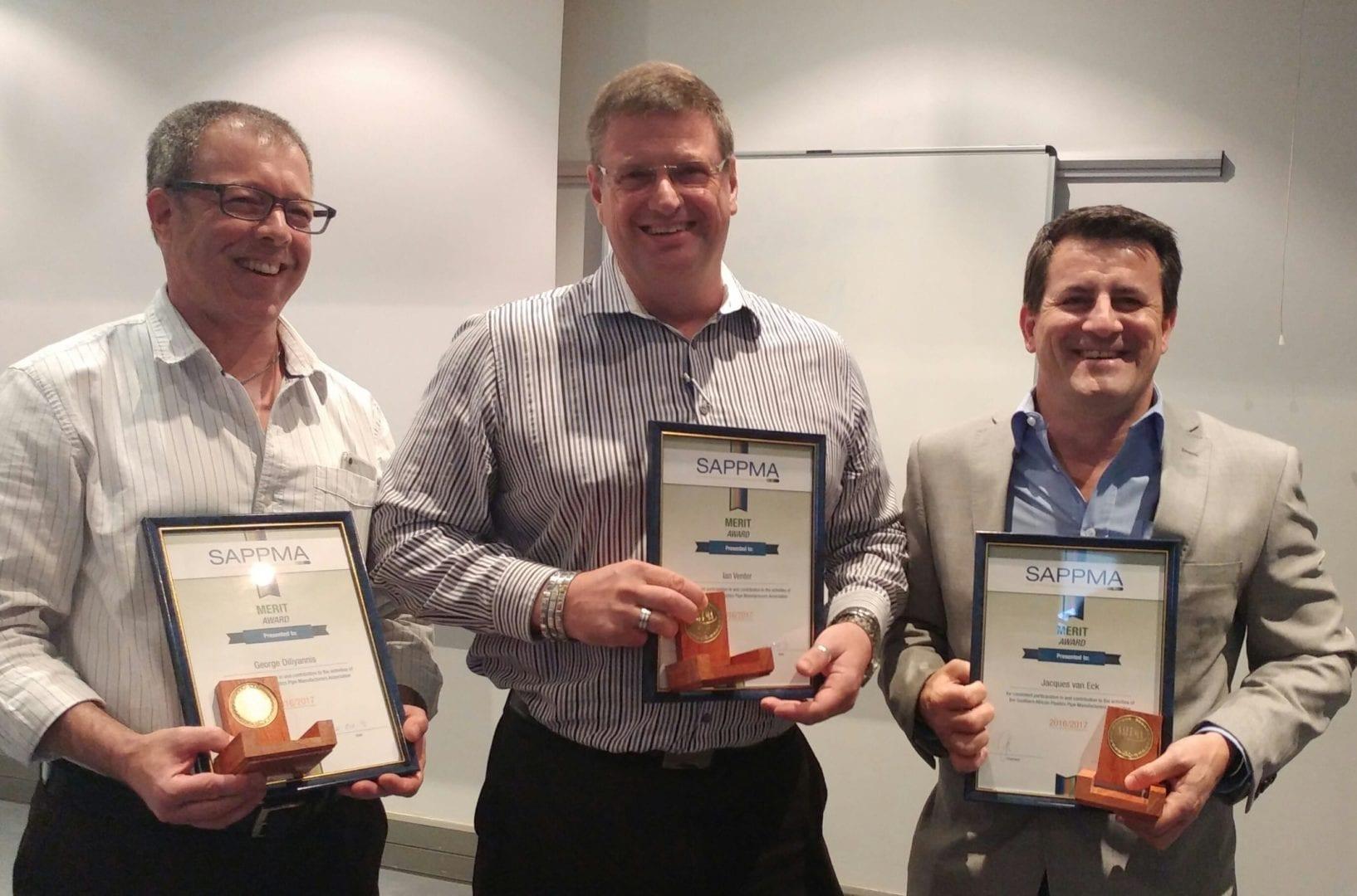 SAPPMA merit award winners 2017