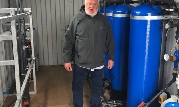 Small business owner celebrates desalination success story
