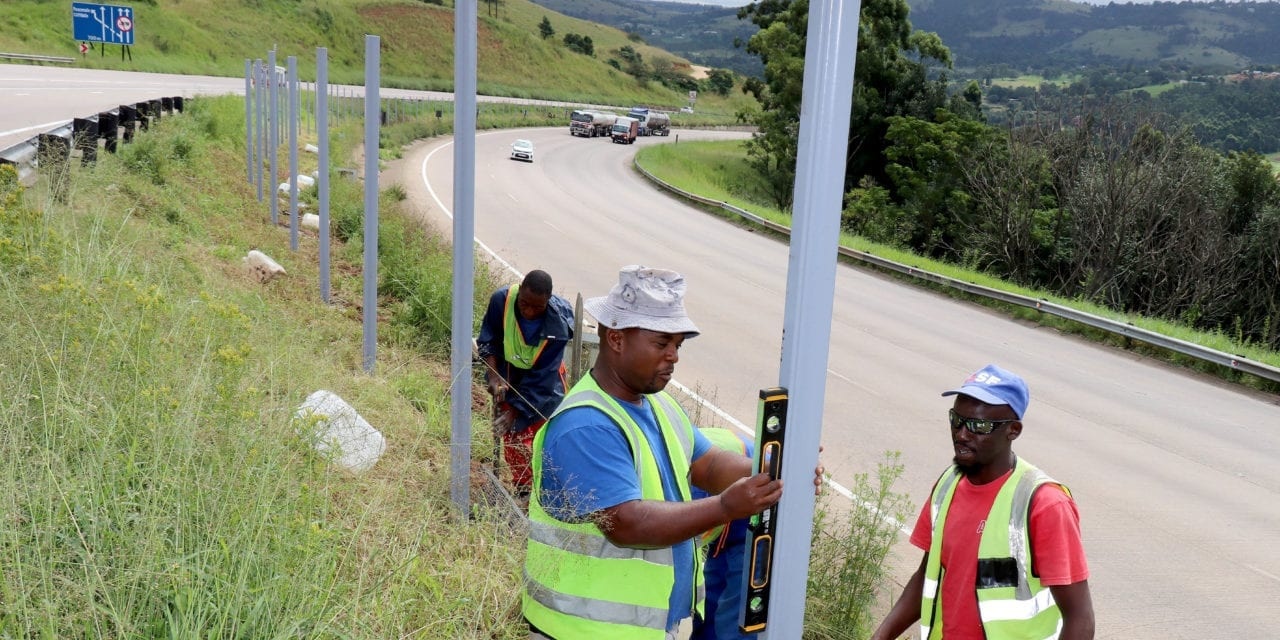 Fences erected on KZN's busy freeways