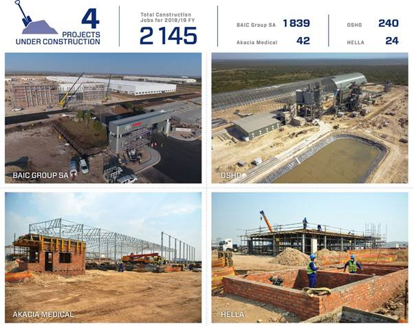 Coega closes 2018 with four construction projects underway