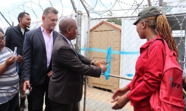 Zamimpilo residents receive access to basic sanitation