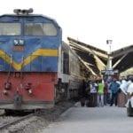Tanzanian railway line on track