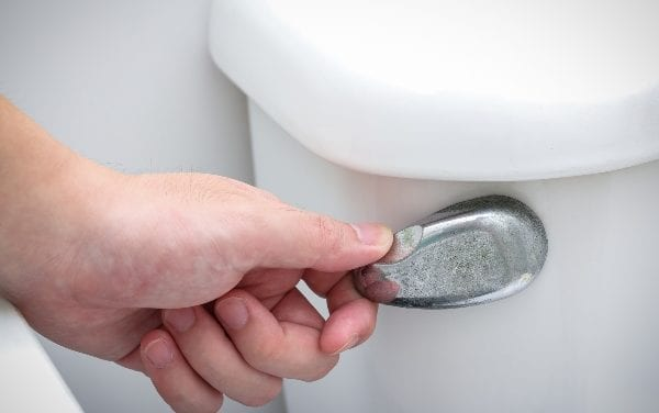Flushing toilet with grey water may be damaging sanitation infrastructure