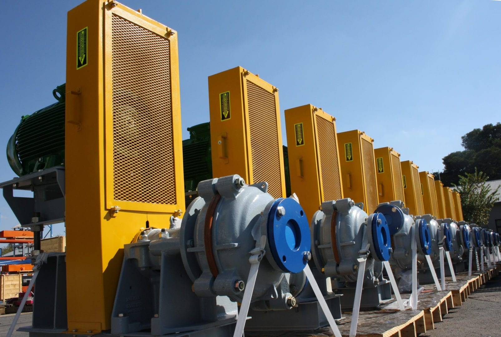 Mill discharge pumps, en route to minerals sands project
