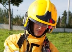 F1XF fire helmet for mining fire response