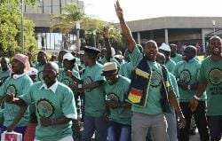 Weekend violence linked to mining strike