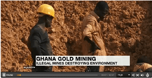 Illegal mining costs the environment
