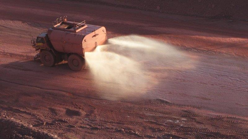A water-wise dust suppression solution