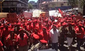What does the EFF want from the Chamber of Mines?